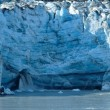Waterfall of Tidewater Lambplugh Glacier — Stok fotoğraf