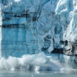 Stock Photo: Calving, Tidewater Margerie Glacier