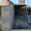New building foundation wall — Foto de Stock