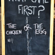 Royalty-Free Stock Photo: Which Came First Chicken or Egg?