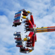 Colorful Spinning Carnival Ride — Stock Photo