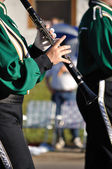Performer Playing Clarinet in Parade — Stock Photo