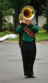 Performer Playing Marching Tuba — Stock Photo