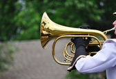 Performer Playing Mellophone in Parade — Stock Photo