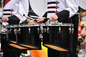 Drummers Playing Tenor Drums in Parade — Stock Photo