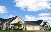 Suburban Duplex Homes — Stock Photo