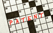 The Word PATENT on Crossword Puzzle — Stock Photo