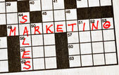 Sales and Marketing on Crossword — Stock Photo