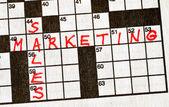 Ventas y marketing en crucigrama — Foto de Stock