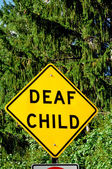 Deaf Child Sign — Stockfoto