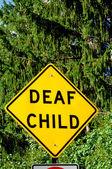 Gehörlose kind zeichen — Stockfoto