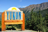 Yukon Territory, Canada Welcome Sign — Stock Photo