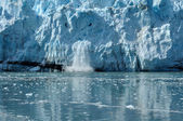 Calving, Tidewater Margerie Glacier — Stock Photo
