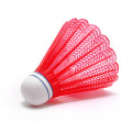 Red Badminton Shuttlecock (Birdie) — Stock Photo