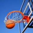Stock Photo: Basketball Shot Falling Through Net