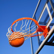 Basketball Shot Falling Through Net — Stock Photo #2294863