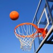 Basketball Shot Heading Toward the Hoop — Stock Photo