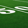 50 Yard Line on American Football Field — Stock Photo #2295235