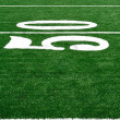 Stock Photo: 50 Yard Line on AmericFootball Field