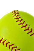 Gul softball närbild — Stockfoto