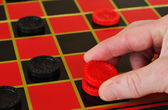 Checkers - King Me — Stock Photo