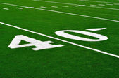 40 Yard Line on American Football Field — Stock Photo