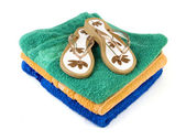 Flip-flop and towels 2 — Stock Photo