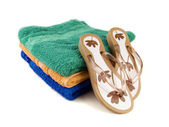 Flip-flop and towels 3 — Stock Photo
