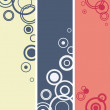 Stock Vector: Circle compositions banners