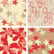 Royalty-Free Stock ベクターイメージ: Floral backgrounds