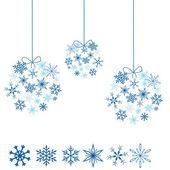 Snowflakes balls — Stock Vector