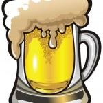 Beer glass, vector illustration — Stock Vector