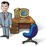 Office clerk — Stock Vector #2133325