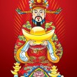 Chinese New year god of wealth — Vettoriali Stock