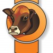 Cow head - Stock Vector