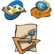 Educational objects — Stock Vector