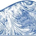 Frost pattern on window — Stock Vector