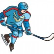 Постер, плакат: Hockey player
