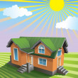 Pretty small house - Stock Vector