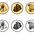Set of icons for web site — Stock Vector