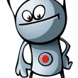 Royalty-Free Stock Vector Image: Robot with button and antennae