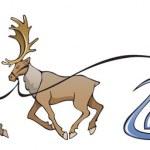 Santa Claus reindeer sleighing — Stock Vector #2136797