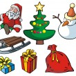 Set of Christmas objects - Stock Vector