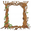 Stock Vector: Tree-shaped photo-frame