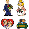 Royalty-Free Stock Vector Image: Wedding - cartoon vectors