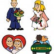 Wedding - cartoon vectors — Stock Vector