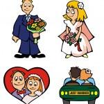 Wedding - cartoon vectors — Stock Vector