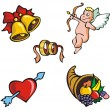 St.Valentine&#039;s icons - Stock Vector