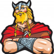 Smiling viking - scandinavian warrior - Imagen vectorial