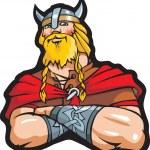 Smiling viking - scandinavian warrior — Stock Vector